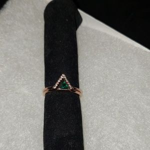 Emerald Rose Gold Ring
